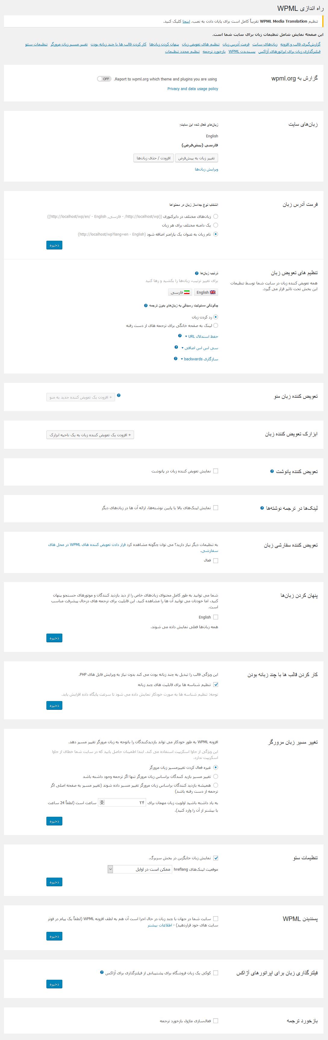 افزونه WPML Multilingual CMS