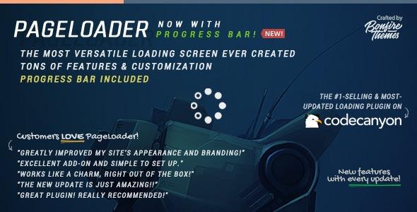 افزونه PageLoader: Loading Screen and Progress Bar
