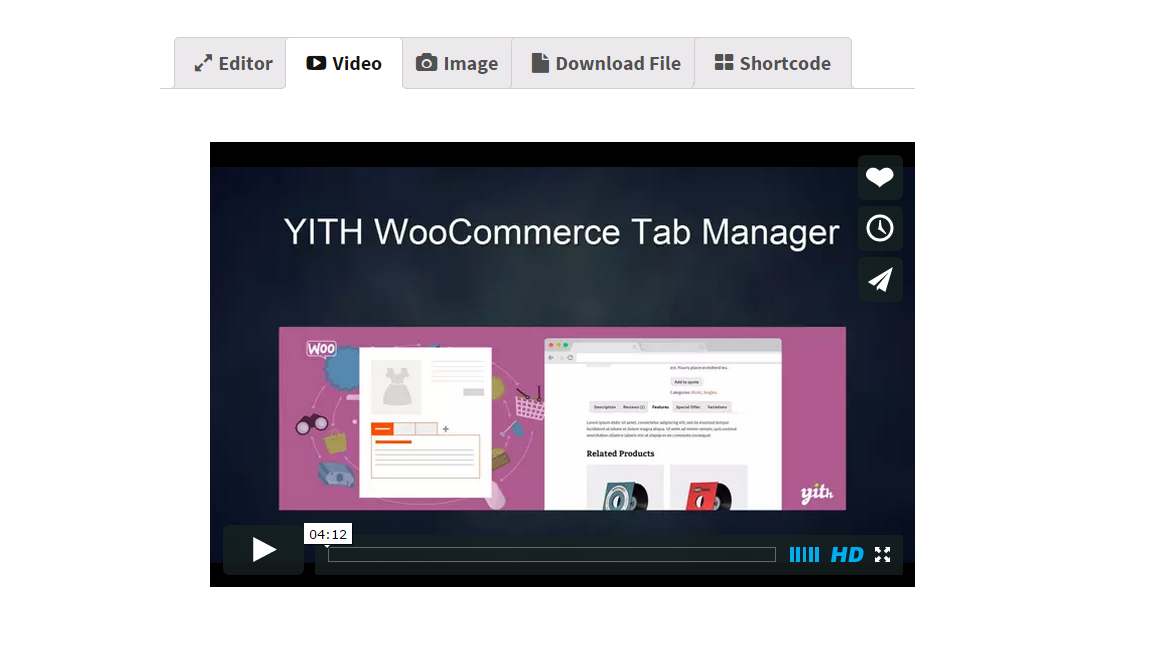افزونه Yith Tab Manager