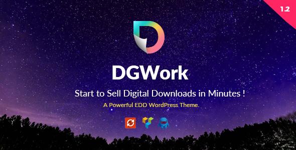 قالب شرکتی دیج ورک DGWork