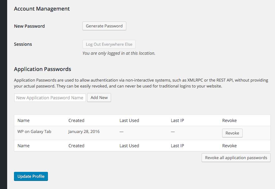 معرفی افزونه Application Passwords