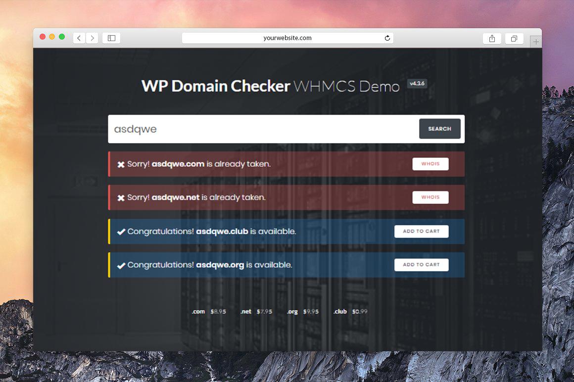 افزونه WP Domain Checker Pro