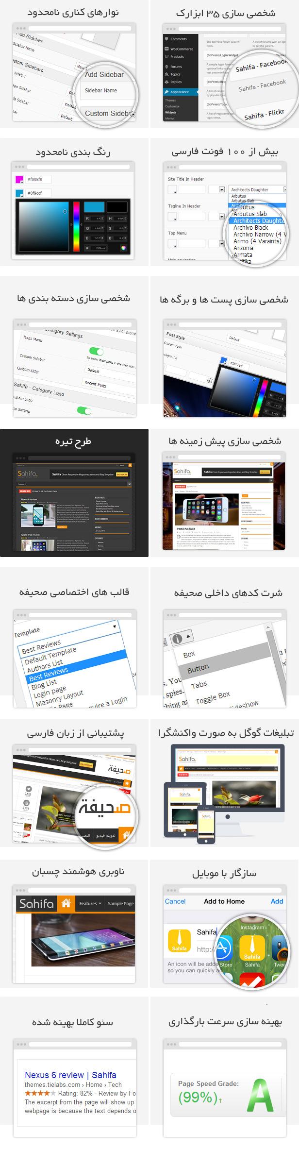 قالب مجلهای صحیفه Sahifa