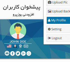 افزونه UserPro Dashboard
