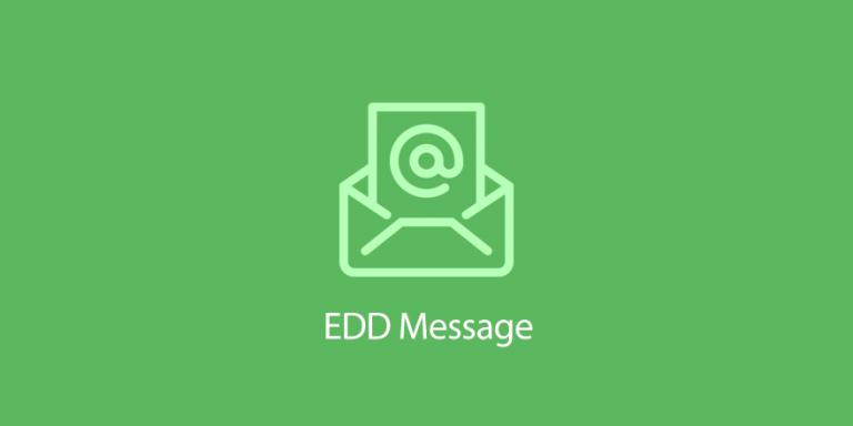 افزونه EDD Message